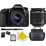 Canon EOS 80D DSLR Camera w/EF-S 18-55mm F/3.5-5.6 III Zoom Lens+Case+ 32gb Memory Card+ TopKnotch Deals Cloth (International Model)