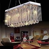 Luminaria Moderna, Rectángulo Largo Rectángulo Colgante de Cristal Luz de Montaje Cristal Lámpara de suspensión de Techo for el Dormitorio de Comedor