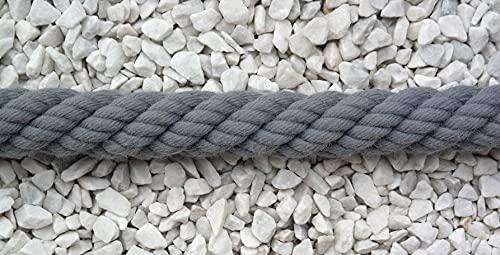 Gepotex Corde pour main courante - 30 mm - Couleur : gris