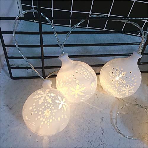 Jcpoler Bunte LED Lichterkette String-LeuchteGeführte Laterne Weihnachtsschneemannavatara Weihnachtstag beleuchtet dekorative Lichter-Schneeball_3 Meter 20 Lichter