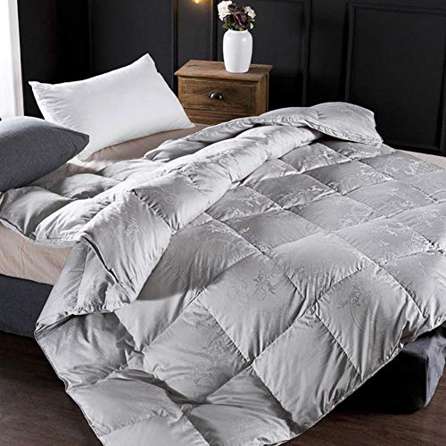 B/H Winter Warm Ultra Snuggle Duvet,Cotton Three-dimensional Jacquard White Goose Down Winter Quilt-B_200*230cm 3.5kg