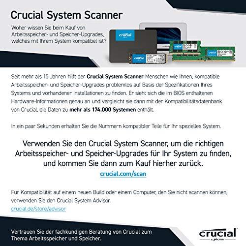 Crucial P1 1TB CT1000P1SSD8 Internes SSD-bis zu 2000 MB/s (3D NAND, NVMe, PCIe, M.2)