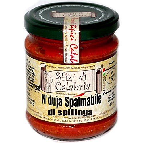 Nduja von Spilinga Calabrese Spalmabile mit Chili würzig Salami Kalabrische Original Salami Calabria Glasvase 190gr