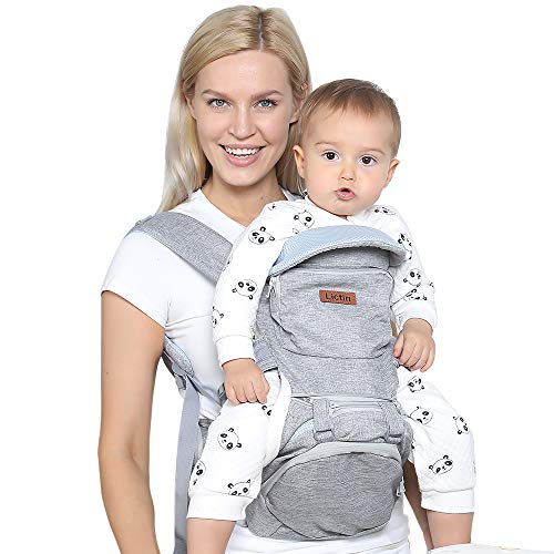 Lictin Babytrage Bauchtrage 3-20kg für Neugeborene 10 in 1 Ergonomische Baby Trage für alle Jahreszeiten