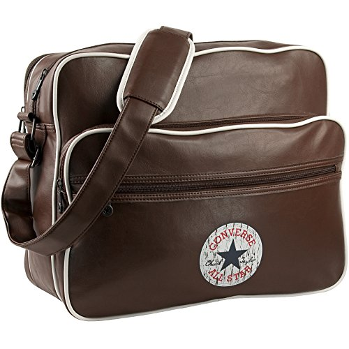 Converse Umhängetasche Vintage Patch PU Shoulder Bag Notebook Tasche Regular Brown Braun