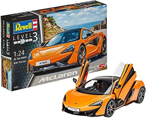 Revell MC Laren Maqueta McLaren 570S, Kit Modelo, Escala 1:24 (07051), 19,0 cm de Largo
