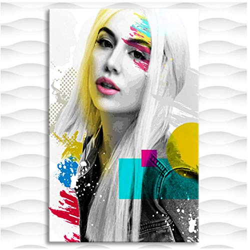 Kongzir Ava Max Wall Art Poster Picture Canvas Painting Wall Art Print On Canvas Posters and Prints for Living Room Decoration -50X70Cmx1Pcs -No Frame