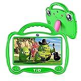 TJD Tablet infantil de 7 pulgadas con sistema operativo Android 10.0, control parental, iwawa preinstalado, 2 GB de RAM, WiFi, estilo Frog Style with Stand Boys Girls Gifts MT-761QU Green...