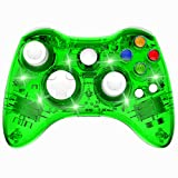 Manette Xbox 360 Sans Fil GamePad Contrôleur de Jeu avec Double Vibration, Vert – PAWHITS