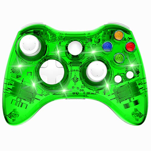 PAWHITS Wireless Controller für Xbox 360 mit Doppelmotor, Vibration, kabellos, Gamepad – Grün