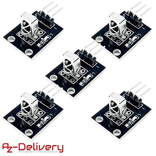 AZDelivery 5 x KY-022 Set IR Empfänger Infrarot Receiver CHQ1838 Sensor Modul für Arduino