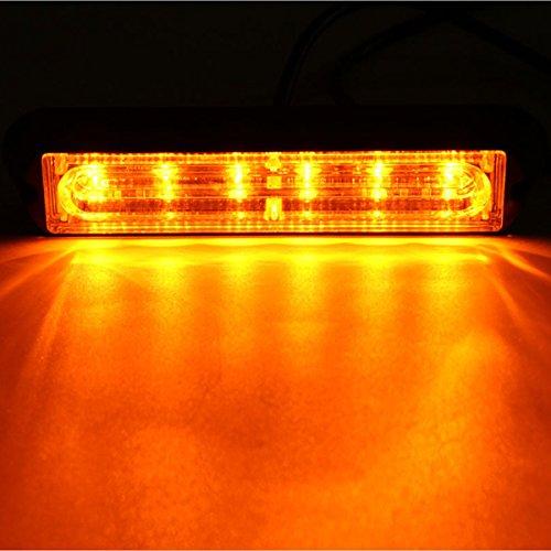 MASUNN 6 LED Voiture remorque Bateau de Secours lumière Danger Clignotant Lampe stroboscopique avertisseur - Jaune
