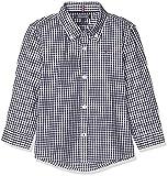 Tommy Hilfiger Boys Gingham Shirt L/s Blusa, Azul (Sky Captain 420), Talla única (Talla del Fabricante: 86) para Niños
