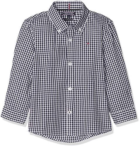 Tommy Hilfiger Jungen Boys Gingham Shirt L/S Hemd, Blau (Sky Captain 420), 98 (Herstellergröße: 3)