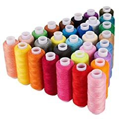 💥【Material】The sewing thread made with high-quality durable polyester, it will not be fraying easily, and the plastic reel also is not easy to deformation. This high-quality thread help you sewing efficiently. 💥【Assorted Colors】Come with 30 different...