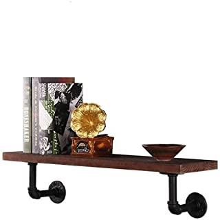 FJFSC Floating Shelves Wall Mounted Decorative Display Storage Rack and Organiser for All Offices Bedroom Living Room - Re...