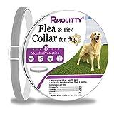 Rmolitty Collare Antipulci Cane, Collare Antiparassitario, 8 Mesi di Protezione per Piccolo Medio Grande Cani (60cm)