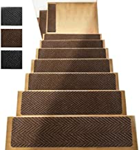 """Non Slip Stair Treads Carpet Set of 13 - Indoor Outdoor Pet Dog Stair Treads Pads– Crafted PVC fibber Backing for Child Proofing/Elderly Safety - Non-Slip Stairway Carpet Rugs 8"""" x 32"""