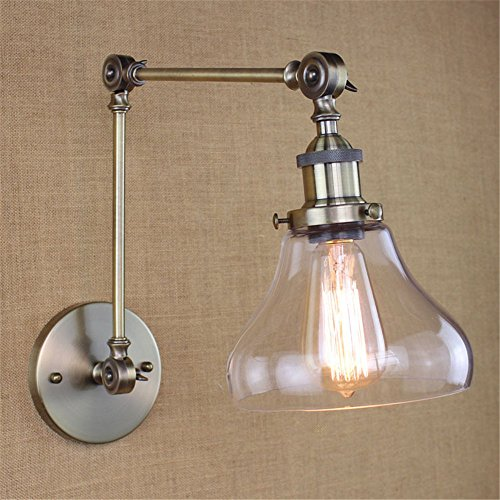 JJZHG wandlamp wandlamp waterdichte wandverlichting land retro pastorale woonkamer eettafel bar dock decoratieve wandlamp, blauwe patina / 180x240mm bevat: wandlamp