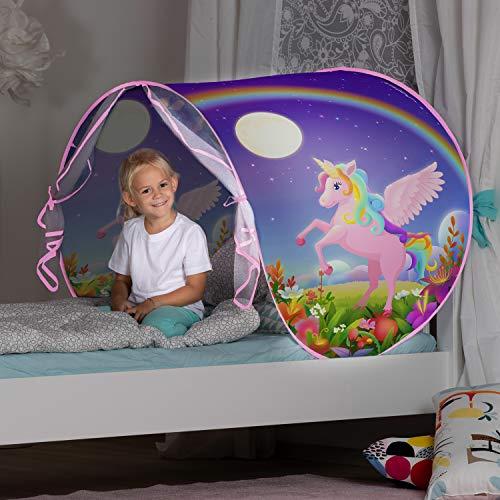 John- Gioca Pop up Tenda Letto Sogno Unicorno con Luce Notturna, 77009