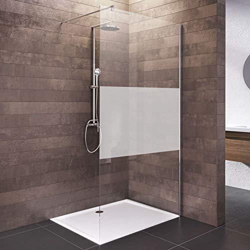 Schulte Duschwand Walk In, 140 x 200 cm, 6 mm Sicherheitsglas (ESG) Dezent, Chromoptik, Dusche vom deutschen Markenhersteller