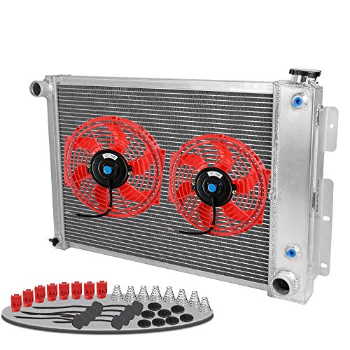 """All Aluminum Racing Cooling Radiator Stop Leak For 67-69 CHEVY CAMARO BIG BLOCK/FIREBIRD With 2 PCS 10"""" in Cooling Fan 1968"""