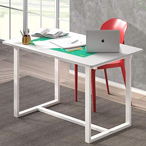 """ZINUS Alto 47"""" White Frame Desk / GOOD DESIGN Winner / Computer Workstation / Office Desk / Easy, Bolt Free Assembly, White"""