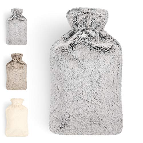 Blumtal Hot Water Bottle with Cover; Premium Faux...