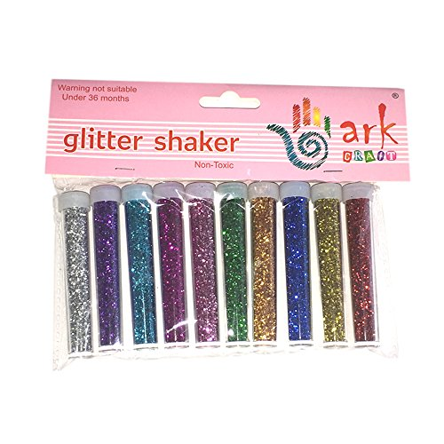 arkcraft mtjf-wsg10p Kids Craft Glitter Shaker Tube (10Stück)