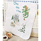 Herrschners Pre-Quilted Storytime Dragon Baby Quilt Stamped Cross-Stitch Kit