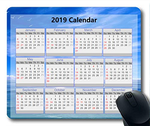 2019 Calendar Mouse Pads,New Years Mouse pad,Starry Sky Galaxy Gaming Mouse pad