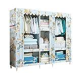 HPYR Schlafzimmer Massivholz Kleiderschrank, abnehmbare atmungsaktive Lagerregal, schweres Gewicht-3