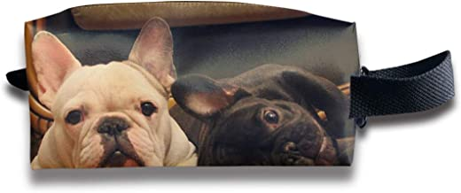 Makeup Cosmetic Bag Cute French Bulldog Graphics Medicine Bag Zip Travel Portable Storage Pouch for Mens Womens