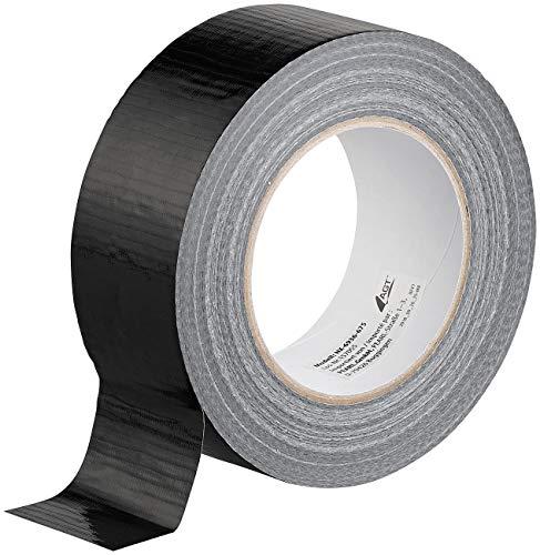 AGT Gewebeklebeband: Reißfestes Gewebe-Klebeband, 48 mm breit, 0,17 mm dick, schwarz, 50 m (Reparaturband)
