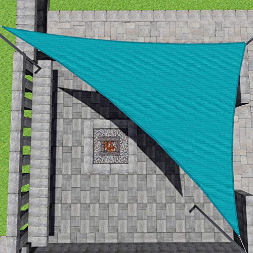 Patio Paradise 16' x 16' x 16' Turquoise Green Sun Shade Sail Equilateral Triangle Canopy - Permeable UV Block Fabric Durable Outdoor - Customized Available