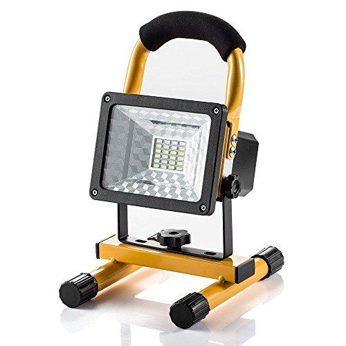 SUAVER 15W LED Fluter wiederaufladbare Arbeitsleuchte, Wasserdicht Tragbar 24LED mit 2 Lichtstärke Stufen Handlampe LED Flutlicht Außenleuchten Work Light Lampen Tischlampe
