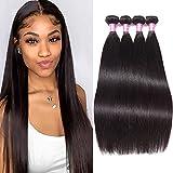 Brazilian Straight Hair 4 Bundles (22' 24' 26' 28') 8A Remy Human Hair Weave Bundles Unprocessed Virgin Straight Brazilian Human Hair Bundles