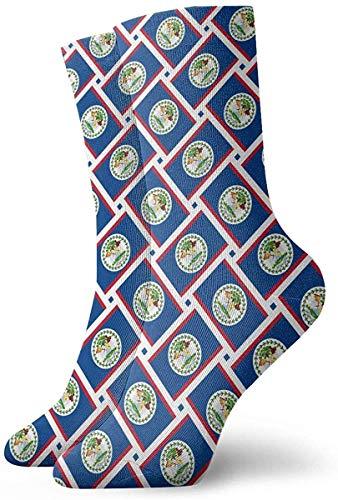 Calcetines casuales Calcetines de tejido de bandera de Belice Calcetines de compresión de vestido corto Calcetines de compresión para mujeres Hombres