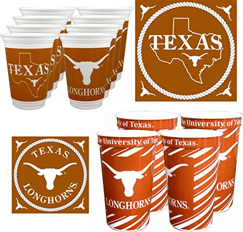 Westrick Texas Longhorns Cups & Napkins for 16 Guests - 52 Pieces