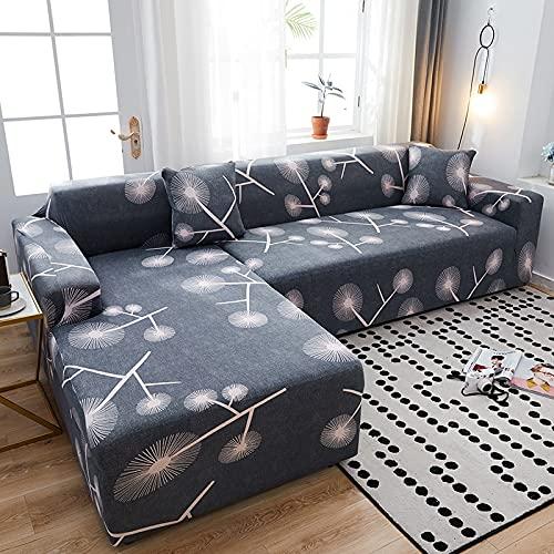 Funda de sofá para sofá de Todos los tamaños Funda de sofá elástica Universal para Sala de Estar Protector de Cubierta Decorativa A20 3 plazas