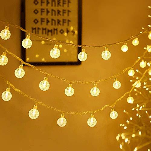 ANKOUJA 100er LED Lichterkette Deko Wohnzimmer Schlafzimmer Weihnachtsdeko Hochzeit Weihnachten, Geburtsgeschenk Bleuchtung Partylichterkette Aussen Innen Garten Warmweiss 13M 8 Modi