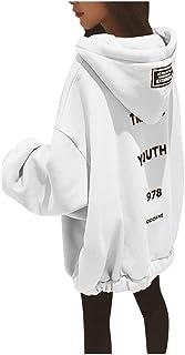 LOPILY Womens Hoodie Sweatshirt Full Zip Oversized Hooded To