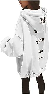 FRENDLY Women's Loose Hoodies Coat Large Size Zipper Sweatshirt Letter Print Thickening Plus Size Sweater