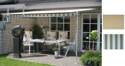 Luxus Leco Vlexy Rollo Terrassenüberdachung 3x4 m braun gestreift