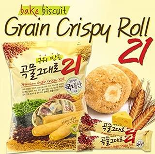 Grain Crispy Roll, Cereal snacks 21 kinds crispy stuffed with cheese, 80 g. (8 sticks)
