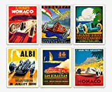 WallBuddy 6er Set Car Racing Grand Prix Poster F1 Poster