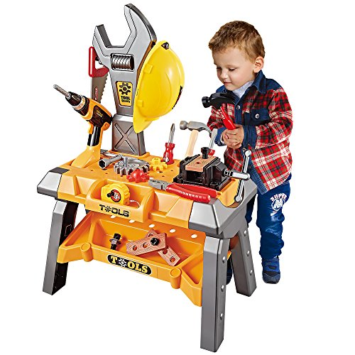 Kids Toy Tool Workbench, 88 Pieces King...