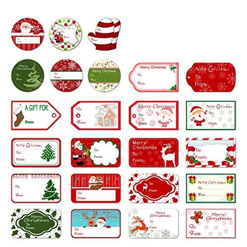 LIOOBO クリスマス シール ステッカー ラベル ラッピング ギフトシール 装飾 クリスマス 誕生日 結婚式 業務用 24種 144枚