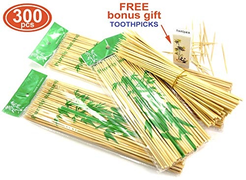 Why Should You Buy MHH Great Bamboo skewers as Roasting Sticks Cocktail Decoration and Craft Supplie...
