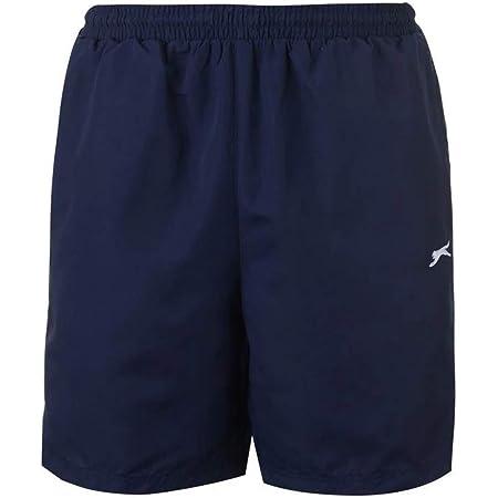 Mens 2 Pockets Mesh Briefs Woven Shorts Pants Bottoms (X-Large, Navy)